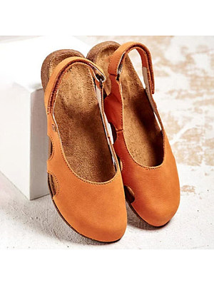 Plain Round Toe Casual Date Travel Flat & Loafers, 7418390