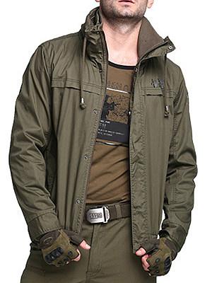 Hooded Pocket Plain Men Coat