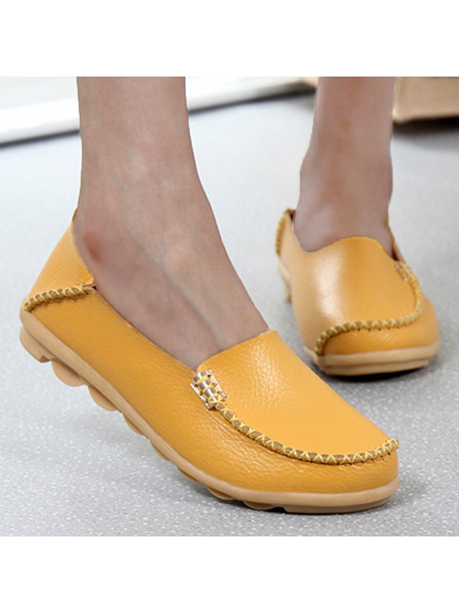 BerryLook Plain  Flat  Round Toe  Casual Flat & Loafers