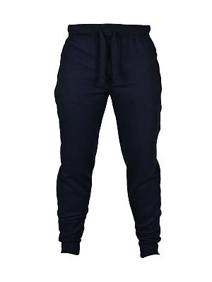 Workout Elastic Waist  Plain  Slim-Leg  Mid-Rise Men's Casual Pant bottom_length:long, embellishment:elastic waist, material:blend, occasion:sport, pattern_type:plain, season:spring*autumn, package_included:bottom*1, length:98,waist:88,hip:88,