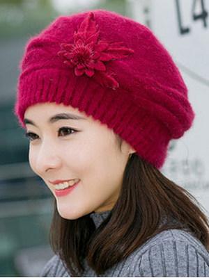 Berrylook coupon: Lady Elegance  Fashion Faux Fur Plain Polyamide Hats For Winter