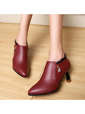 Plain Stiletto Point Toe Boots, 9430617