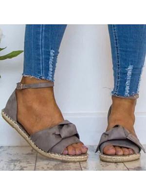Plain Flat Velvet Ankle Strap Peep Toe Casual Date Flat Sandals, 4675580
