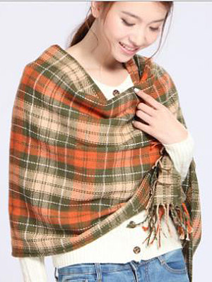 Berrylook coupon: Winter Fashion Cotton Plald Scarves
