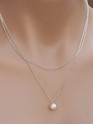 Berrylook coupon: Two Pieces Faux Peral Necklace For Women