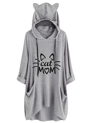 Fashion Letters Long Sleeve Top*1 Hoodies & Sweatshirts фото