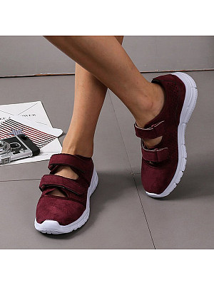 Plain Round Toe Sneakers, 9703021
