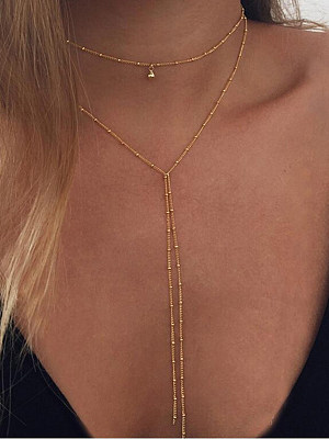 Berrylook coupon: Geometric Metal Long Necklaces