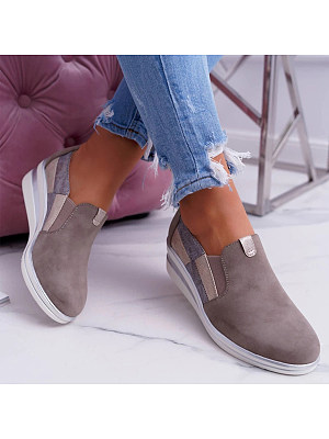 Round Toe Sneakers, 9106001
