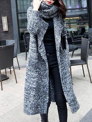 Lapel  Patch Pocket  Assorted Colors Coats
