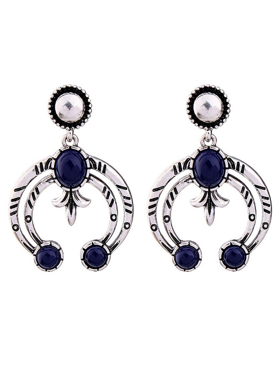 Imitation Stone Drop Earrings