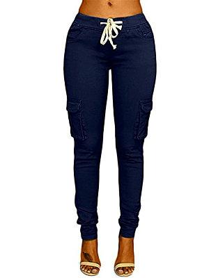 Flap Pocket Belt Plain Pants фото