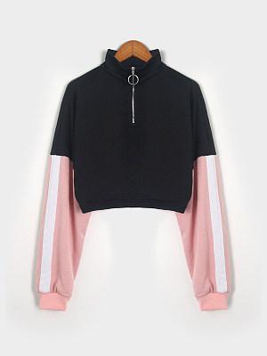 Casual  Colouring  Long Sleeve Sweatshirt