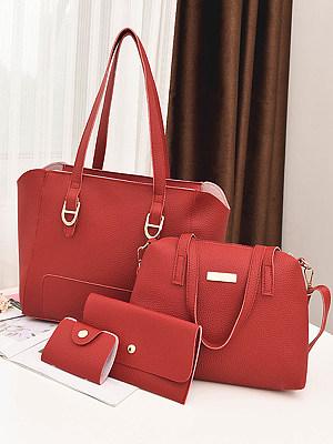 Stylish Leisure Simple Women Bag Set (4 Pieces) фото
