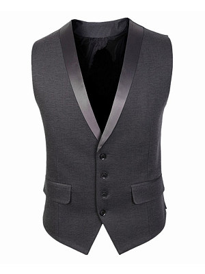 Notch Lapel Men's Vest