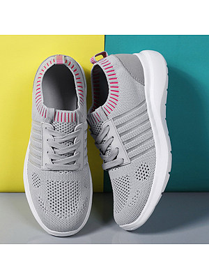 Color Block Flat Round Toe Casual Sneakers, 8033944