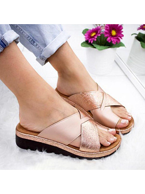 Casual Date Travel Plain Peep Toe Wedge Sandals, 6944753