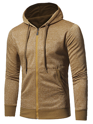 Men Patch Pocket Drawstring Hoodie