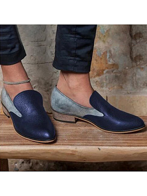 Color Block Flat Round Toe Casual Date Outdoor Comfort Flats, 6227748