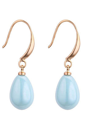 Berrylook coupon: Water Shape Imitated Crystal Earrings For Women