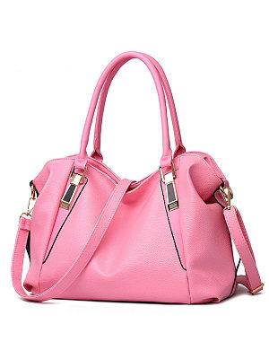 Berrylook coupon: Basic Pu Big Capacity Shoulder Bag