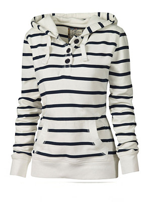 Concise Striped Hot Hooded Hoodies collar_&_neckline:hooded, embellishment:kangaroo pocket, material:blend, more_details:decorative buttons, occasion:basic,date, package_included:top*1, pattern_type:stripes, season:autumn,spring,winter, style:elegant, sleeve length:63,length:67,bust:88,shoulder:37,