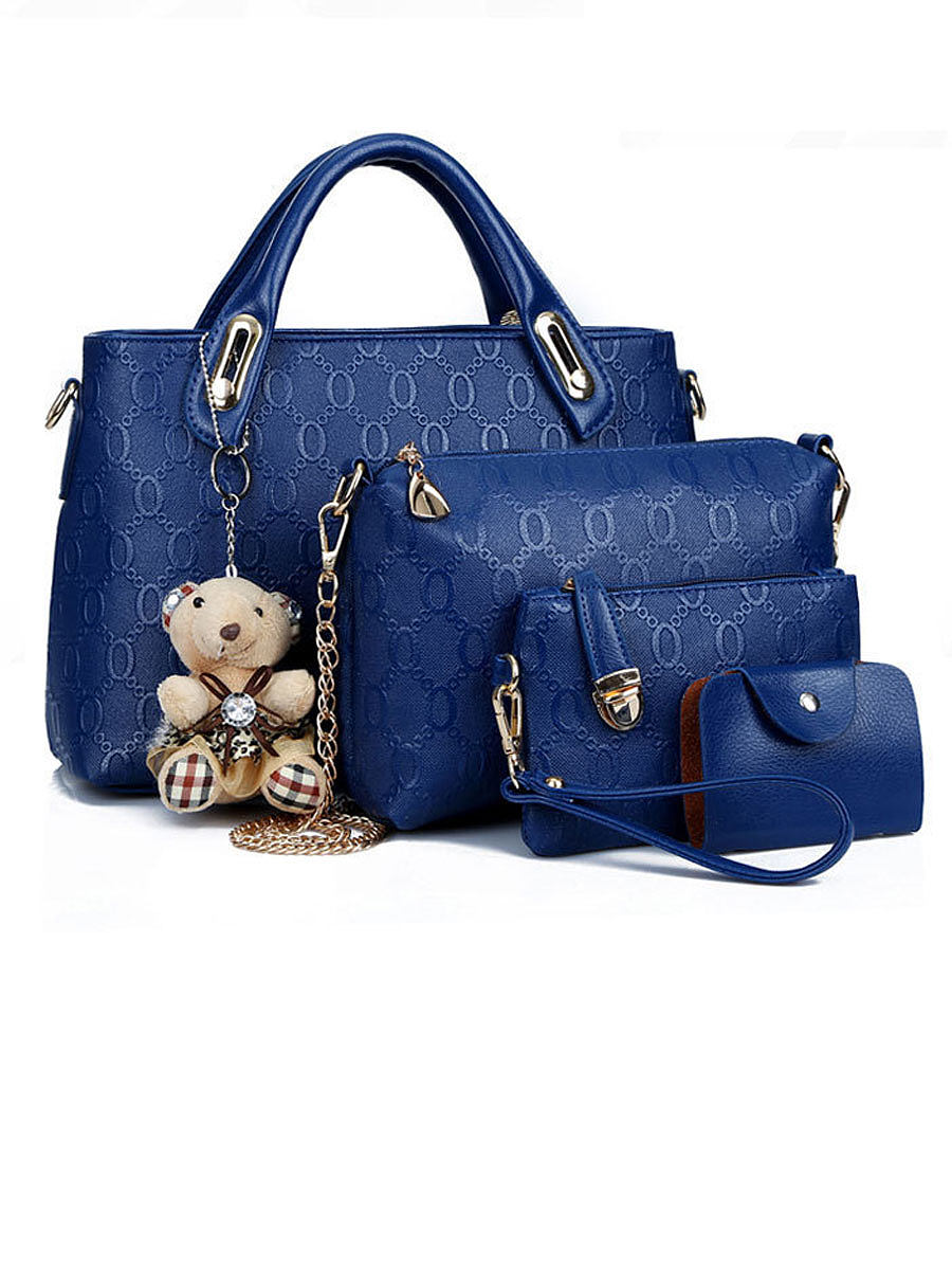 Four Pieces Tiddy Bear Shoudler Bags