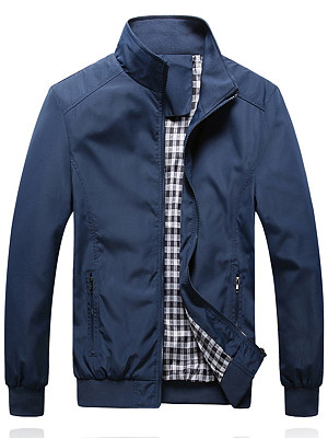 Band Collar  Plain Men Jacket