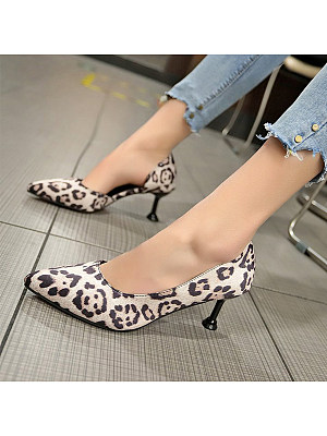 Stiletto Mid Heeled Point Toe Date Stiletto Heels
