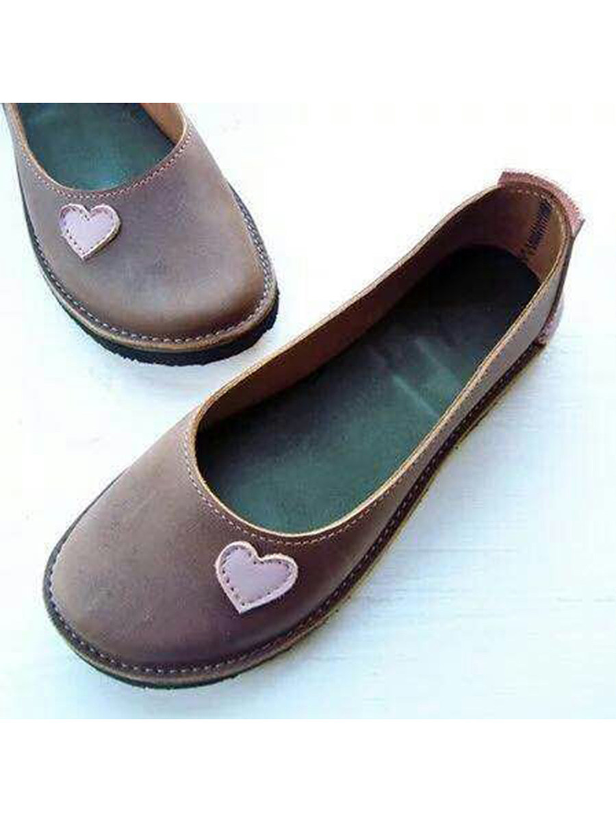 BerryLook Plain  Flat  Round Toe  Casual Travel Comfort Flats