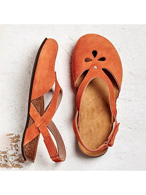 Plain Flat Round Toe Casual Travel Flat & Loafers, 7454486