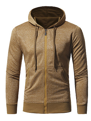 Hooded Patch Pocket Plain Men Coat фото
