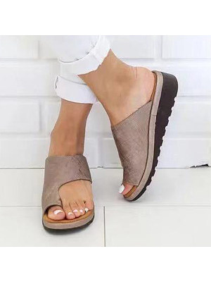 Plain Peep Toe Casual Comfort Slippers, 6646149