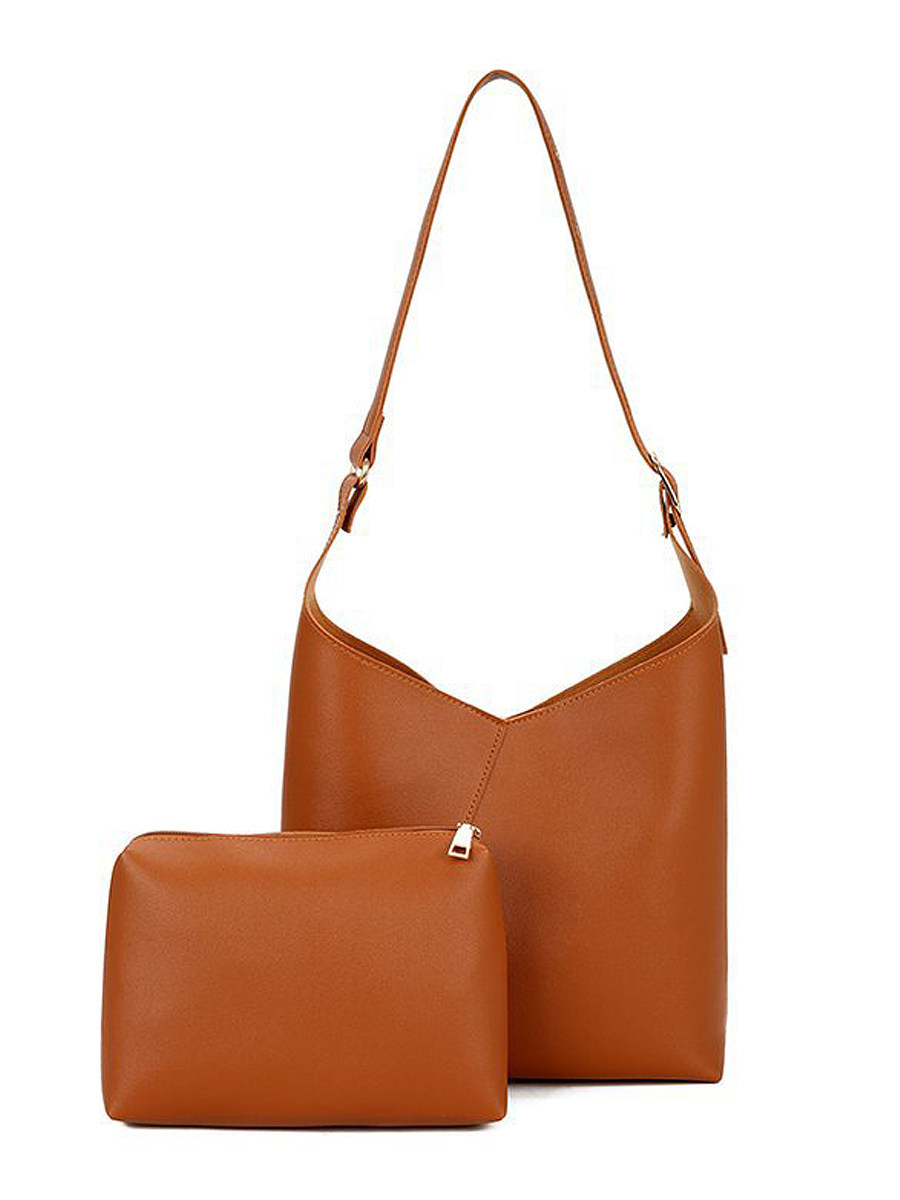Two Pieces Korea Fashion Stylish Plain Crossbody Bag Hand Bag
