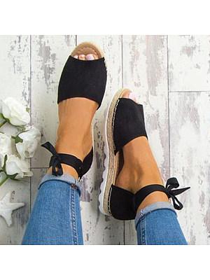 Plain Low Heeled Velvet Ankle Strap Peep Toe Beach Sandals, 4478482