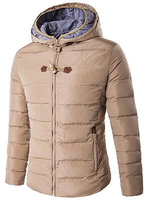 Hooded Pocket Quilted Men Padded Coat фото