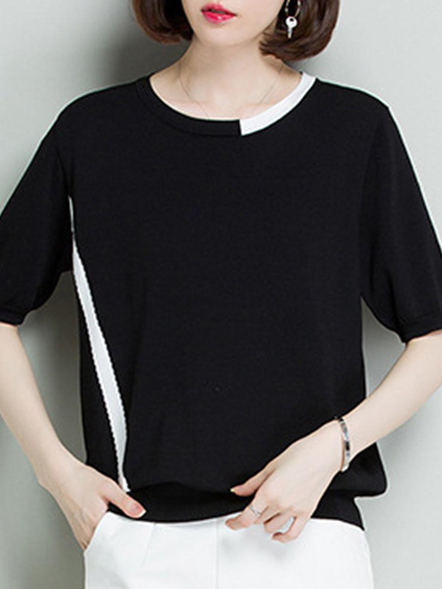 Patchwork Short Sleeve T-Shirts