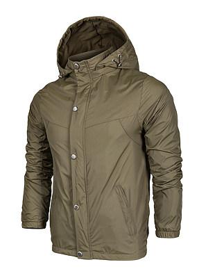 Hooded Single Breasted Pocket Plain Men Coat