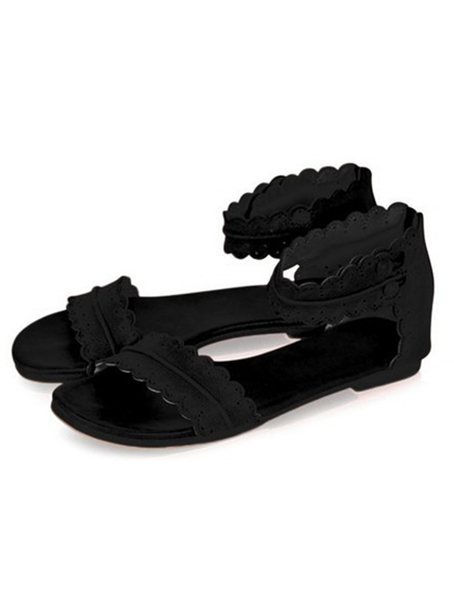 SOCOFY Flat  Ankle Strap  Peep Toe  Casual Socofy  Sandals