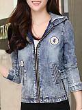 Image of Hooded Printed Jacket