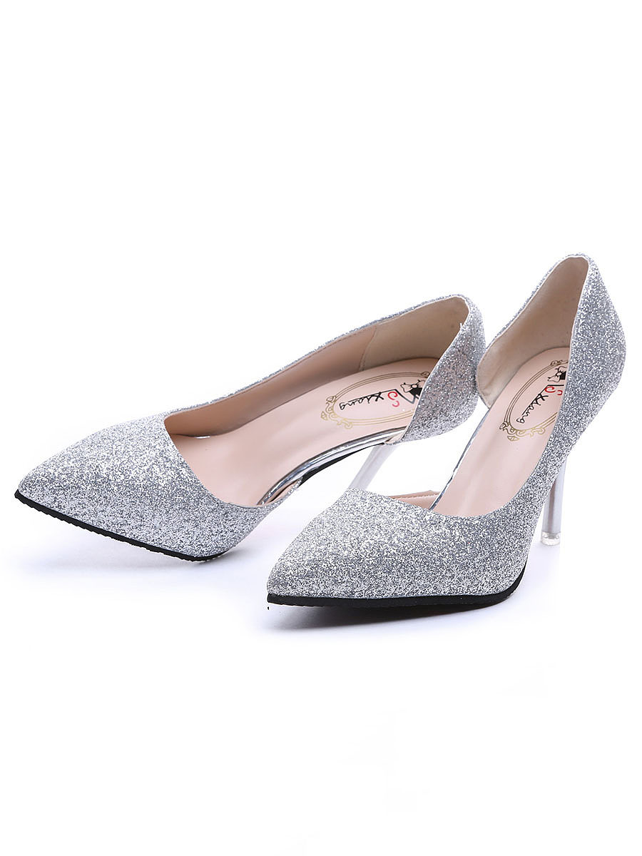 Stiletto  High Heeled  PU  Point Toe  Casual Pumps