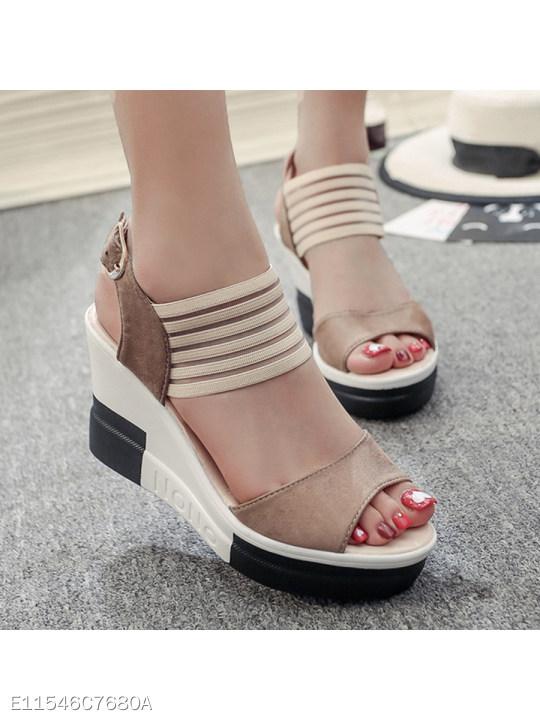 High Heeled Peep Toe Casual Date Sandals Berrylook Com