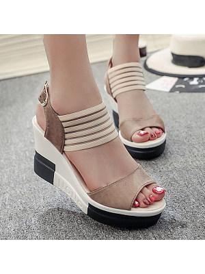 High Heeled  Peep Toe  Casual Date Sandals
