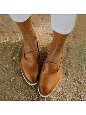 Vintage Round Toe Comfort Flats фото