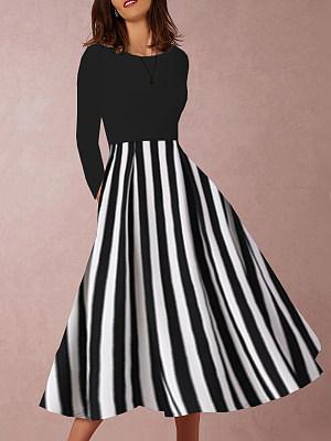 Sweet Heart Striped Skater Dress, 9466183