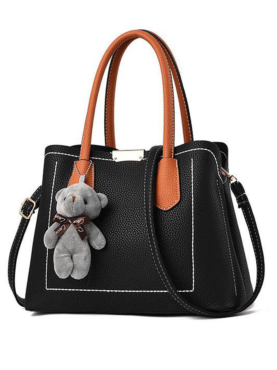 Decortive Bear Plain Shoulder Bags For Women