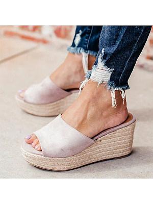 Plain Velvet Peep Toe Date Wedge Sandals, 6731782