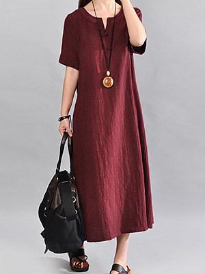 Sweet Heart Plain Maxi Dress, 4883076