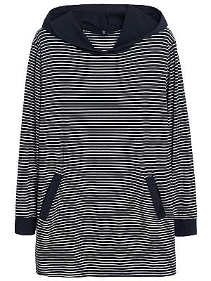Hooded  Striped Hoodie