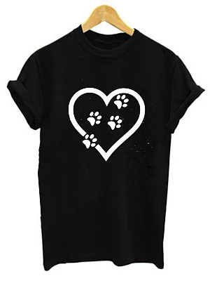 Round Neck Printed Short Sleeve T-Shirts фото